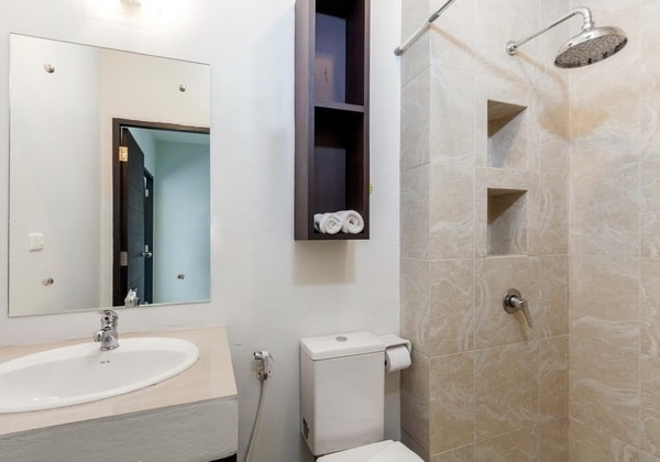 Bathroom in two-bedroom apartment in Chalong