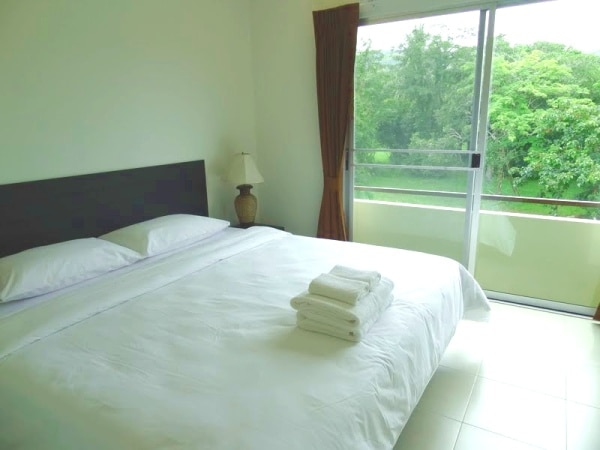 Bedroom in two-bedroom apartment in Chalong