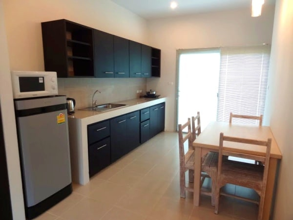 Kitchen in two-bedroom apartment in Chalong