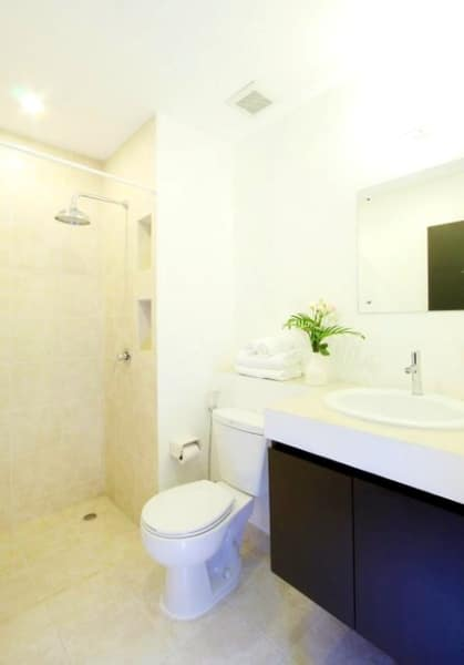 Bathroom in Chalong studio apartments
