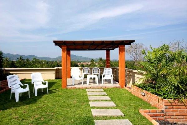 Garden above Chalong studio apartments
