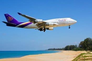 Beach at Phuket airport