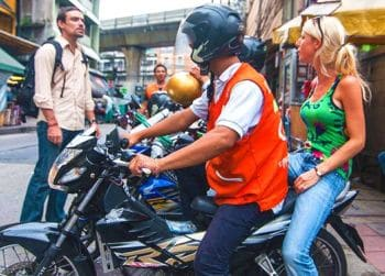 Motorbike taxi to Phuket accommodation