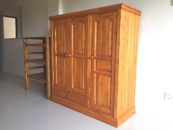 Teak furniture in Rawai apartment