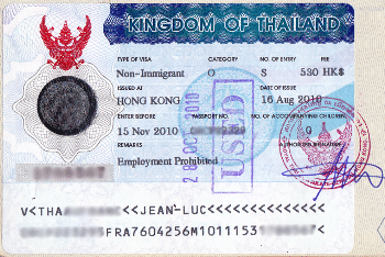 Visa for Thailand